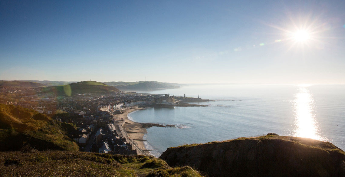 View of Aberystwyth from Constitution Hill