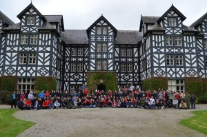 First Year Students line up for their well earned group photo at Gregynog