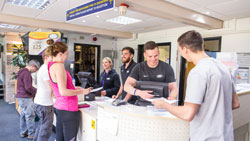 Sport centre welcome desk