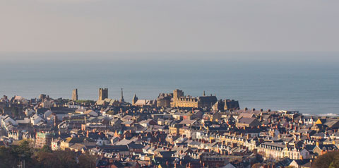 Aberystwyth as seen from the university