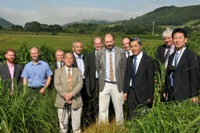 L-R Dr Ed Hodgson; Dr Steve Fish; Gareth Llewellyn, Welsh Government; Professor Nasu; Professor Nagano; Tim Williams, Climate Change Consortium of Wales; Professor Iain Donnison; Dr Jo Gallagher; Professor Sakuma; Professor John Valentine; Professor Hatta.