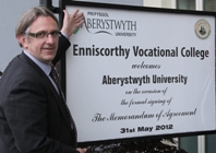 Professor Martin Jones at Enniscorthy Vocational College.