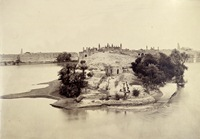 Photograph taken in 1860 of the ancient city of Sukkur which lies in the heart of the Indus Valley, the location of the ancient Harappa civilisation.  (Out of copyright)