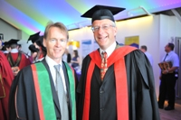 Dr Neil Glasser (right) with Dr Emyr Roberts.