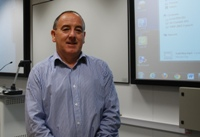 Nigel Thomas has been overseeing the refurbishment of 34 lecture theatres across the campus.