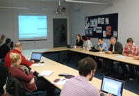 Students from the Department of International Politics took part in the conference via an online hub, one of only two locations to offer this in the UK.