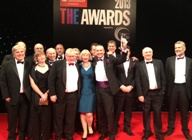 Members of the IBERS team celebrate at the 2013 Times Higher Education Awards