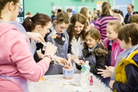 Experimenting during the 2013 science festival.