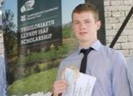 Tudur Parry was presented as winner of the Llyndy Isaf Farming Scholarship at the Royal Welsh Agricultural Show