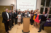 Department of Geography and Earth Sciences, winners of the Department of the Year Award 2014