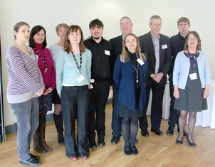 Hosts and speakers from the Voices from the Autism Spectrum one-day conference at Aberystwyth University.