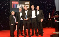 Members of the IBERS team who won the Outstanding Contribution to Innovation and Technology award at the 2013 Times Higher Education Awards.