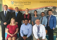 Members of teaching and administrative staff at the Aberystwyth University Mauritius Branch Campus