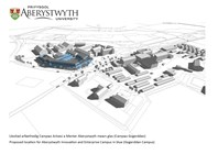 Proposed location for the Aberystwyth Innovation and Enterprise Campus (AIEC) at Gogerddan