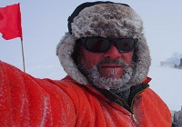 Professor Bryn Hubbard who recently spent 9 weeks drilling on the Larsen C ice shelf in Antarctica.