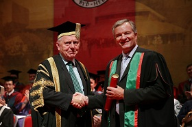 Chancellor Sir Emyr Jones Parry with Professor Julian Dowdeswell