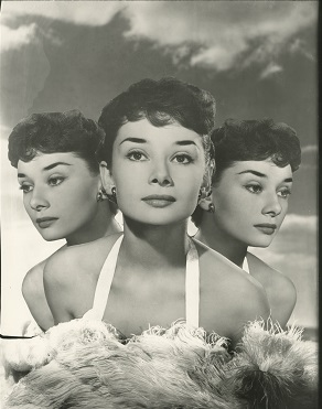 Photo montage of Audrey Hepburn by Angus McBean. ©Estate of Angus McBean.