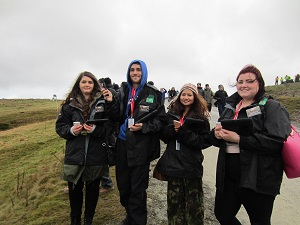 Aberystwyth University students at a Wales GB Rally event