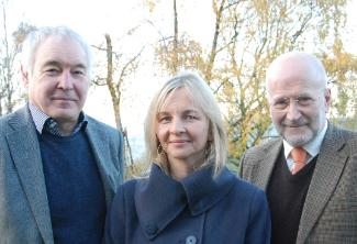 L-R: Alan Clarke, Sarah Wydall and John Williams