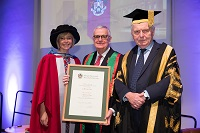 Professor Jo Crotty, Andrew Guy MBE and Sir Emyr Jones Parry
