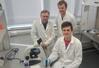 Members of the research team that studied the prevalence of rumen fluke in Welsh farms: (Left to right) Professor Peter Brophy, Dr Hefin Williams and Rhys Aled Jones from the Institute of Biological, Environmental and Rural Sciences at Aberystwyth University.