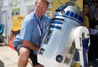 R2-D2, built by Stephen Fearn from the Department of Physics, will feature in the summit's Robotic zone, along with research on the ExoMars lander which is being undertaken at Aberystwyth.