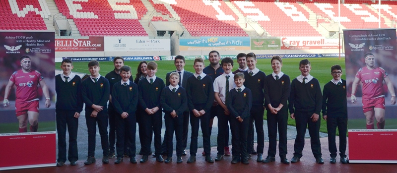 Launch of the Scarlets / Aberystwyth University Healthy Eating Initiative at Parc y Scarlets