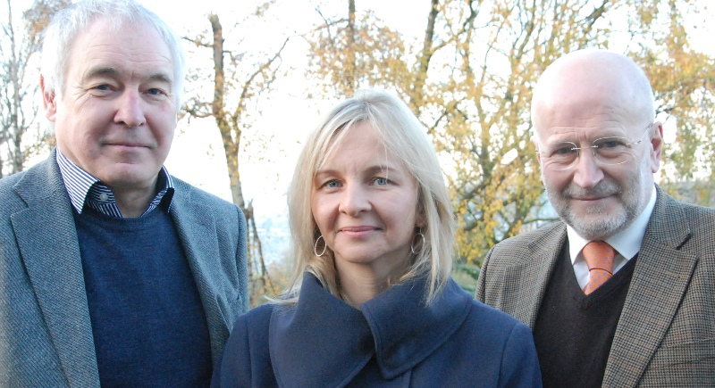 Choice/Dewis, the £1.3m research project on Elder Abuse and Justice was awarded £890,000 grant by the Big Lottery Fund in 2015. Pictured (left to right) are Professor Alan Clarke, Co-Principal Investigator, Sarah Wydall, Senior Research Fellow and Co-Principal Investigator and Professor John Williams, Co-Principal Investigator on the project.
