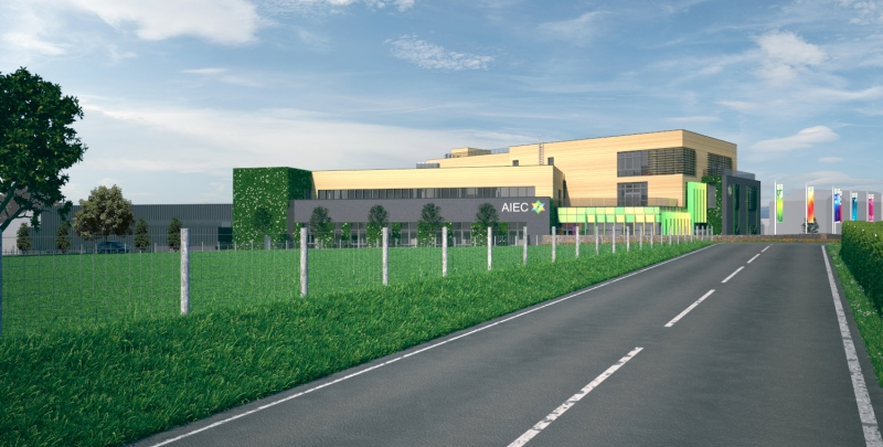 An artists impression of the new £40.5m Aberystwyth Innovation and Enterprise Campus