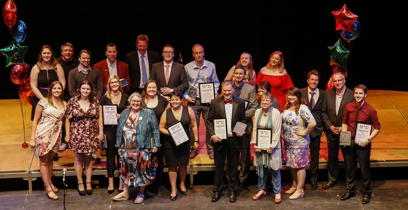 Winners of the 2017 AberSU Teaching Awards. Credit: Mick McGrath
