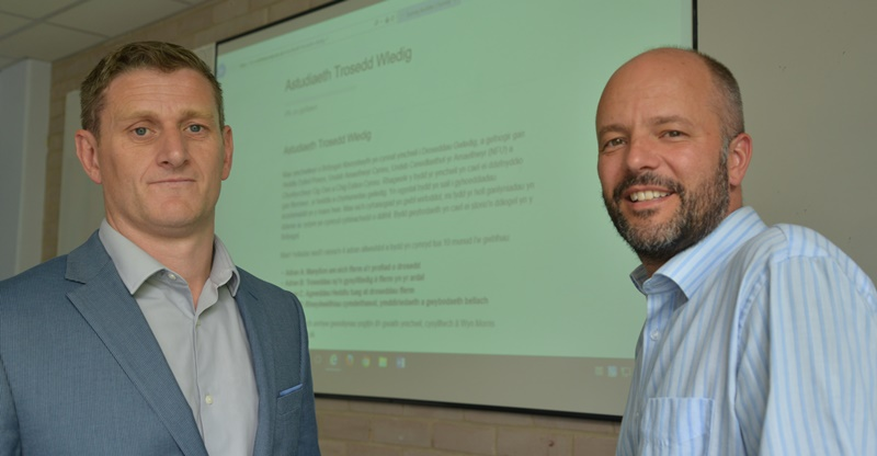Wyn Morris (left) from Aberystwyth Business School and Dr Gareth Norris from the Department of Psychology at Aberystwyth University who have developed the rural crime study.