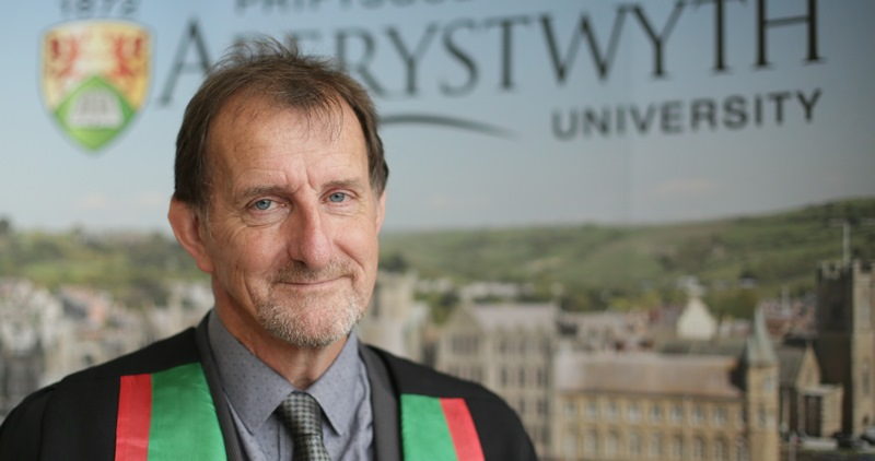 Mr Alan Lovatt, senior grass breeder at IBERS has been presented with an Honorary BSc Degree by Aberystwyth University for 42 years of commitment to grass breeding and the development of Aber High Sugar Grasses.