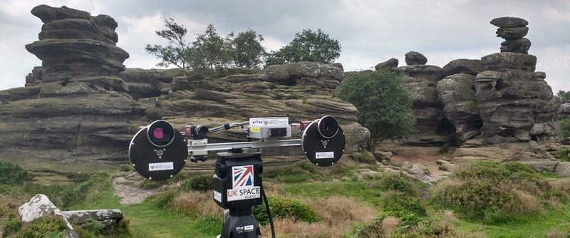 PanCam during a recent field test in Brimham Rocks in Yorkshire, where the team were testing its 3D measurement capabilities.