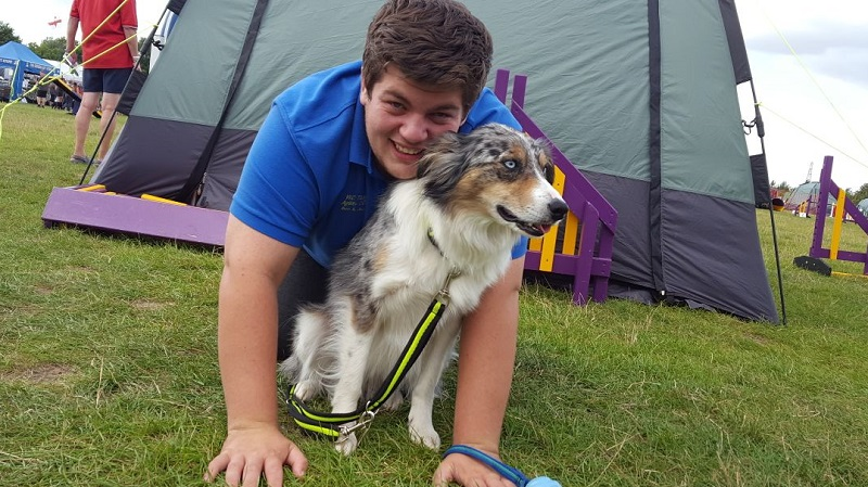 Psychology student Ben Tandy with Haze, who are competing at Crufts