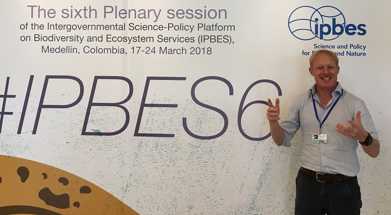 Professor Mike Christie from Aberystwyth Business School who co-led the study for the Intergovernmental Science-Policy Platform on Biodiversity and Ecosystem Services (IPBES)