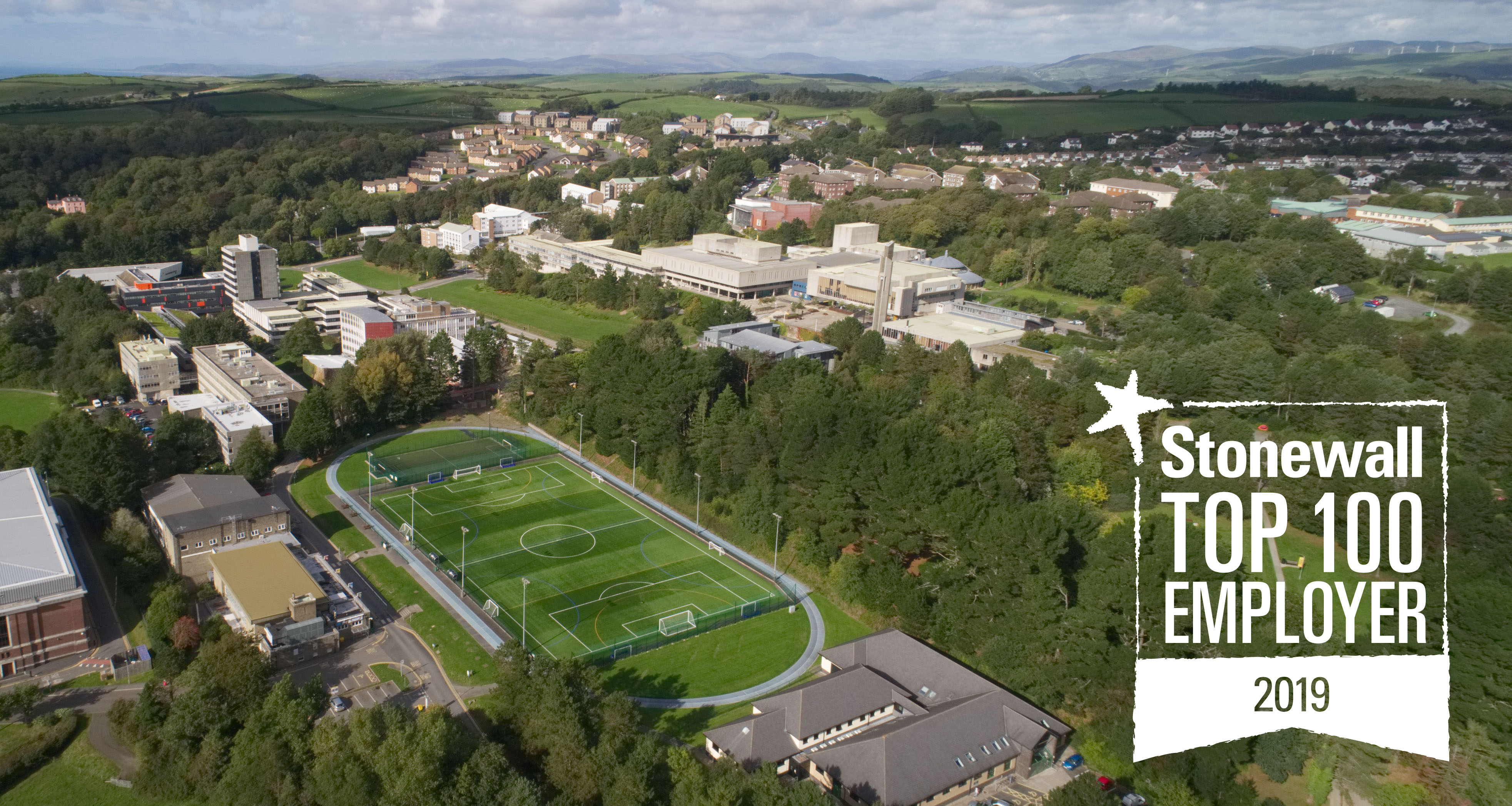 Aberystwyth University is in Stonewall's Top 100 Employers list for a second consecutive year.