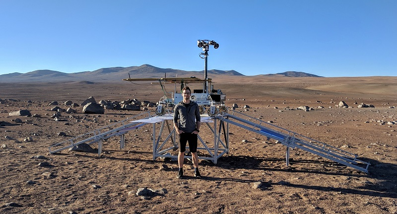 Ariel Ladegaard recently worked on ESA's Airbus-led field trials on an ExoMars-like prototype rover in the Atacama Desert, Chile.