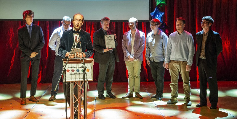 Mathematics was awarded the title of Department of the Year at the AberSU Celebrates Staff and Students Awards 2018