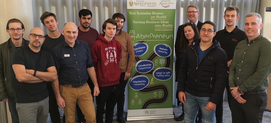 Staff and students at the launch of the 2020 InvEnterPrize competition