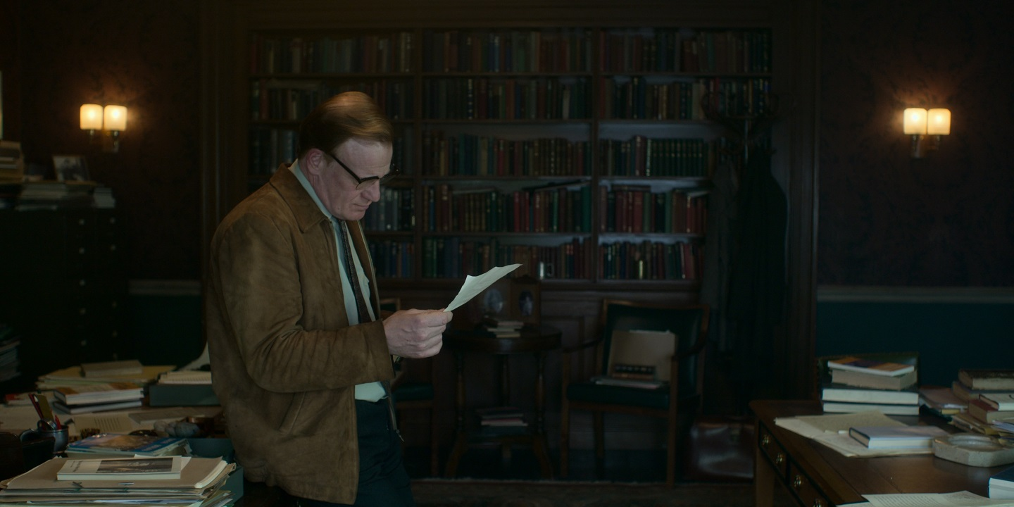Dr Teddy Millward, played by Mark Lewis Jones in The Crown, was tasked with teaching Welsh to Prince Charles during his time at Aberystwyth University. Image: Netflix.