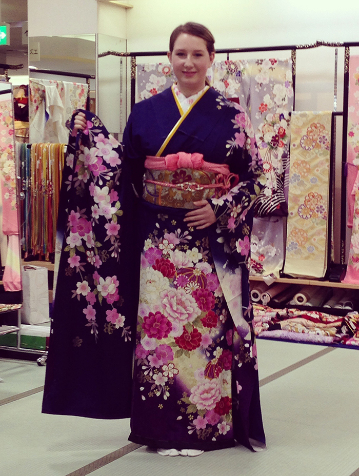 Last years winner Alys in traditional dress during her visit