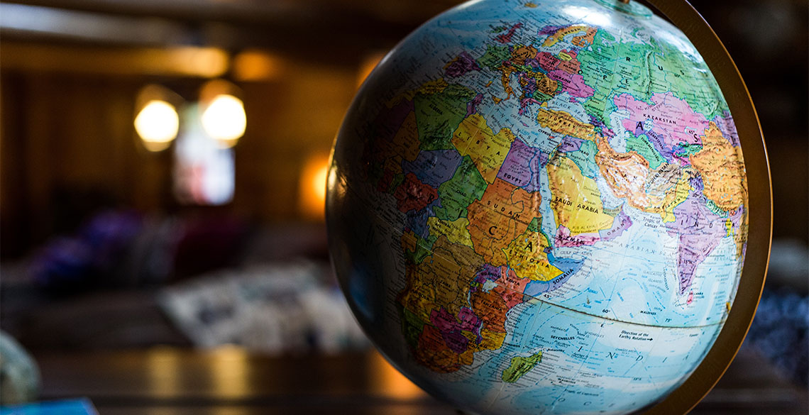 Your country. Image of a globe of the world.