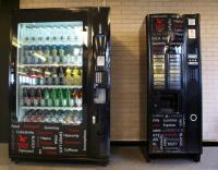 New vending machines, healthy options, and hot drinks machine in Hugh Owen Library